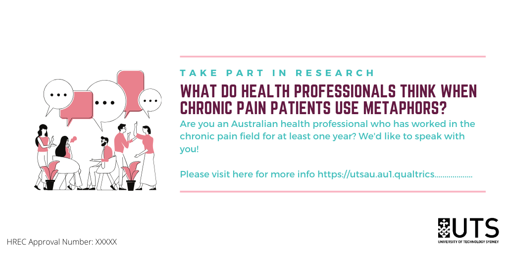 Are you an Australian health professional who primarily works with chronic pain patients info research flyer
